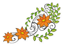 A border made of vine flowers Stock Images