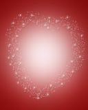 border magical valentiner för daghjärta Arkivbild