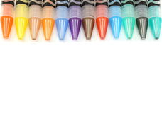 Border of Mechanical Color Pencils Royalty Free Stock Photos