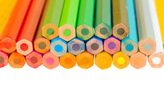 Border of  multicoloured pencils Stock Photo