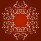 Border ornament on a red background. Border seamless ornament bright line on a red background Royalty Free Stock Image