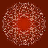 Border ornament on a red background. Border seamless ornament bright line on a red background Stock Photos
