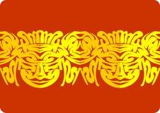 Border ornamental paper cut Stock Image