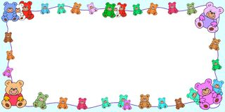 Border out of teddies Royalty Free Stock Photo