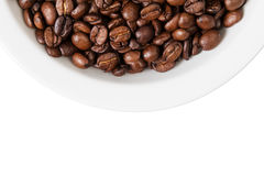 Border from part of bowl with coffee Royalty Free Stock Photography