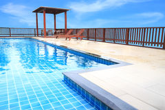 Border path of pool. Royalty Free Stock Photo