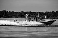 Border Patrol Cruising on the river St. Augustine, Florida royalty free stock photos