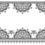 Border pattern elements with flowers  Royalty Free Stock Photography