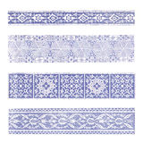 Border pattern ornate oriental Stock Photography