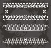 Border pattern set in white  Stock Photography