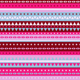 Border pattern triangles and stars - red pink Stock Photo