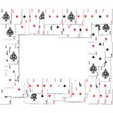 Border of playing cards Stock Image