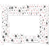 Border of playing cards Royalty Free Stock Photo