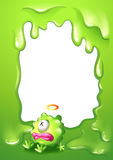 A border with a poisoned green monster. Illustration of a border with a poisoned green monster Royalty Free Stock Photo