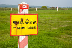 Border of the Poland. Stock Images
