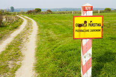 Border of the Poland. Royalty Free Stock Image