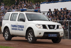 Border police car on parade Royalty Free Stock Photo