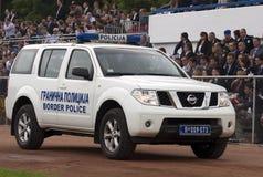 Border police car on parade Royalty Free Stock Photo