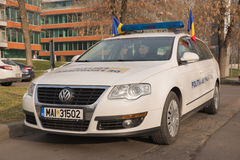 Border police car. The photo was taken in Bucharest, Romania at December 1st parade Stock Photos