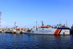 Border police coast guard Stock Images