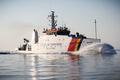 Border Police ship Stock Photos