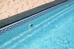 Border between pool and sidewalk Royalty Free Stock Image