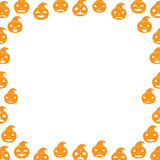 Border with Pumpkin Royalty Free Stock Photos