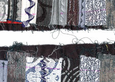 Border quilted fabric Royalty Free Stock Photos