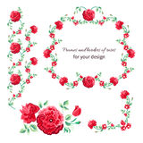 Border of red roses Royalty Free Stock Image