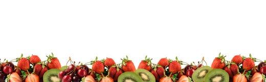 Border of ripe berries Stock Image