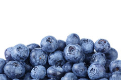 Border from ripe washed blueberries Royalty Free Stock Photo