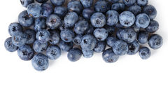 Border from ripe washed blueberries Stock Photo