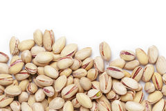 Border from roasted salty pistachios nuts Royalty Free Stock Images