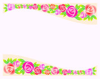 Border of roses. Decoration flower vector illustration stock illustration