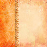 Border of roses and lace. Background for the photo book Stock Photography