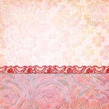 Border of roses and lace. Background for the photo book Royalty Free Stock Image