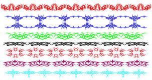 Border rules ornamental lines royalty free illustration