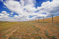 The border between Russia and Mongolia royalty free stock photo