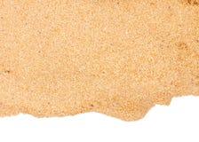 Border of sand. Border of beach sand isolated on white background stock image