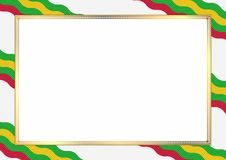 Border of Sao Tome and Principe. Border made with Sao Tome and Principe national colors. Template elements for your certificate and diploma. Horizontal stock illustration