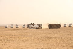 Border security Force in the Desert Stock Photography