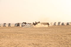 Border security Force in the Desert Stock Image