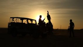 Border security Force in Desert stock footage