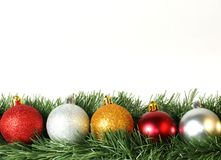 Border with series of baubles Stock Photos