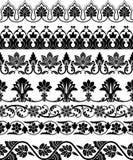Border. Set of the seven ornamental border for your design. Vector illustration  black on the white background Royalty Free Stock Image