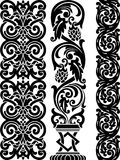 Border. Set of the three ornamental border for your design. Vector illustration black on the white background Royalty Free Stock Photos