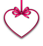 Border shape form Heart from ribbon Valentine day Stock Photos