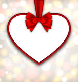 Border shape form Heart from ribbon Valentine day Stock Photo