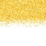 Border with shimmer stars. Gold sparkle. Golden frame of stars. Confetti. Border with shimmer stars. Gold sparkle. Golden frame of stars Stock Images