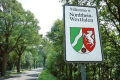 Border sign of North Rhine-Westphalia Royalty Free Stock Images